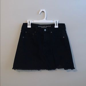 AEO Black Denim Mini Skirt